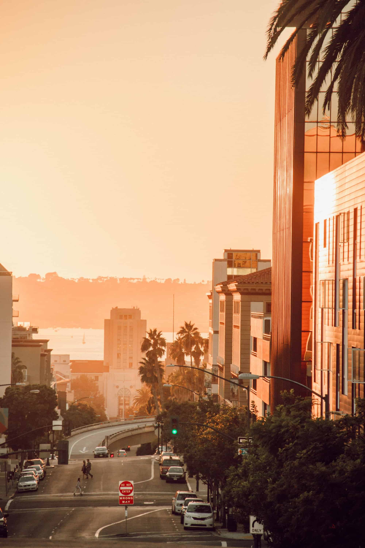 San Diego Street Sunset